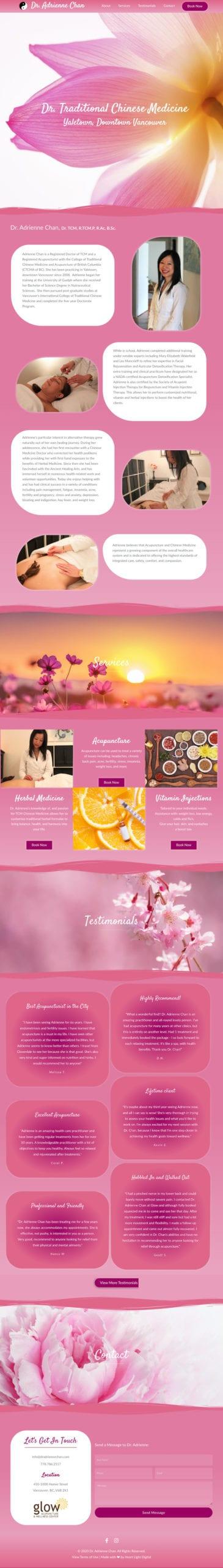 Dr Adrienne Chan Website