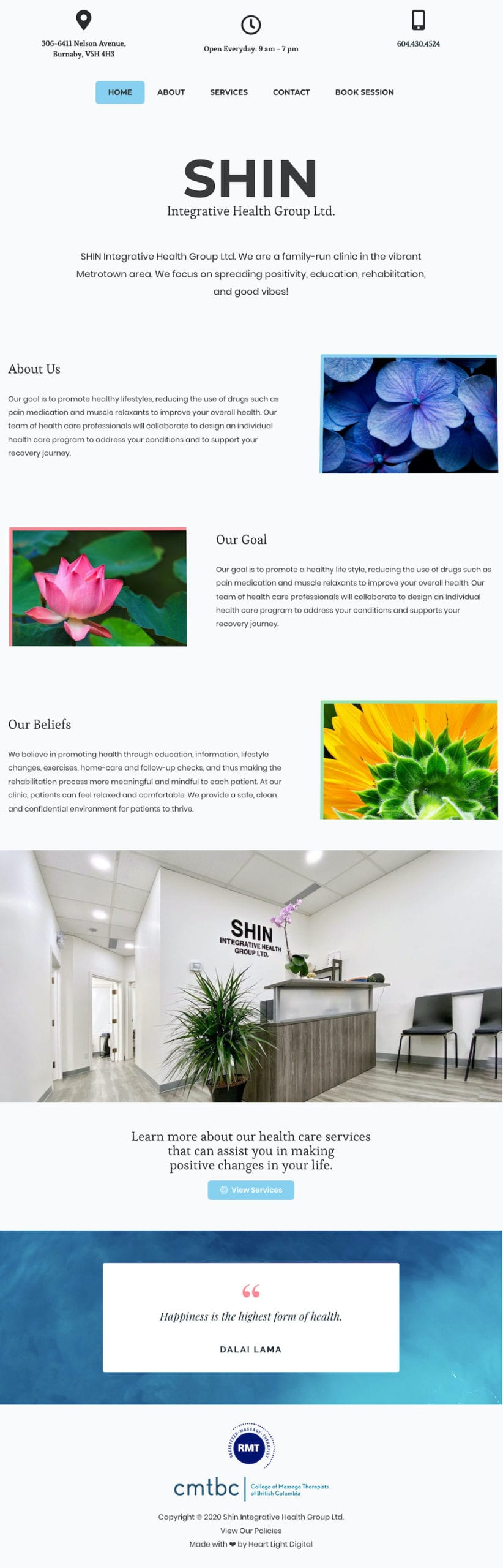 Shin Integrative Health Group Website